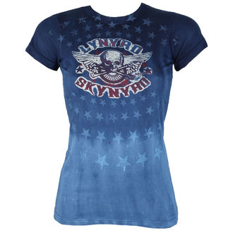 t-shirt metal women's Lynyrd Skynyrd - Skynyrd Stars Tie-Dye Juniors - LIQUID BLUE, LIQUID BLUE, Lynyrd Skynyrd