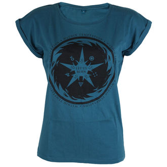 t-shirt metal women's Within Temptation - Burn Star Teal -, Within Temptation