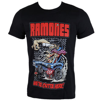 t-shirt metal men's Ramones - Outta Here - ROCK OFF, ROCK OFF, Ramones