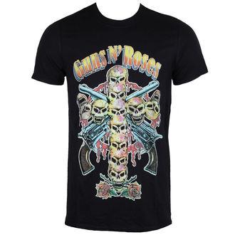t-shirt metal men's Guns N' Roses - Skull Cross 80's - ROCK OFF - GNRTS20MB