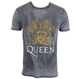 t-shirt metal men's Queen - Crest - ROCK OFF, ROCK OFF, Queen