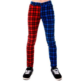 pants men 3RDAND56th - TARTAN SPLIT LEG, 3RDAND56th