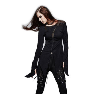t-shirt women with long sleeve (tunic) PUNK RAVE - Hypnosis - T-377_B