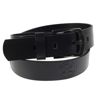 belt Baphomet - Black, JM LEATHER