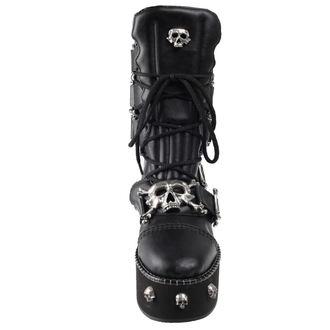 wedge boots women's - I DIETH-SKULL - ALCHEMY GOTHIC, ALCHEMY GOTHIC