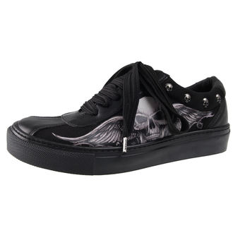 low sneakers women's - GHOST-WINGED SKULL - ALCHEMY GOTHIC, ALCHEMY GOTHIC