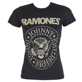 t-shirt metal women's Ramones - DISTRESS CREST - BRAVADO, BRAVADO, Ramones