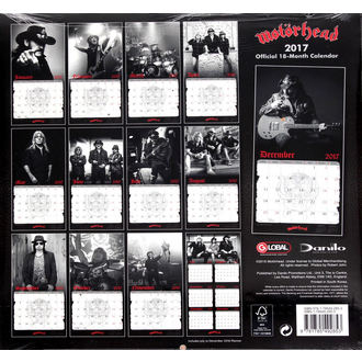 calendar for 2017 Motörhead, Motörhead