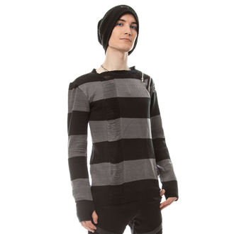 sweater men's HEARTLESS - DROP DEAD - BLACK / GREY, HEARTLESS