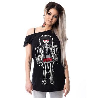 t-shirt women's - DEAD INSIDE OFF SHOULDER T - CUPCAKE CULT, CUPCAKE CULT