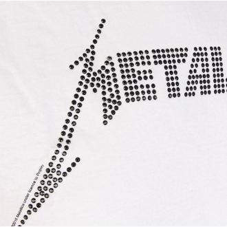 t-shirt metal men's Metallica - BLACK LOGO DIAMANTE - AMPLIFIED, AMPLIFIED, Metallica