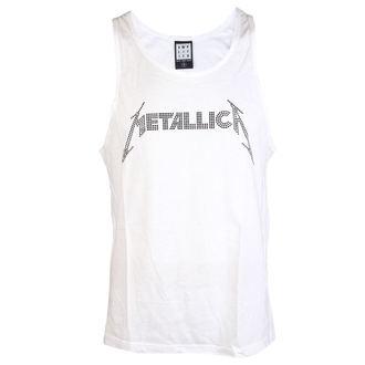 top men METALLICA - LOGO WHITE - AMPLIFIED, AMPLIFIED, Metallica