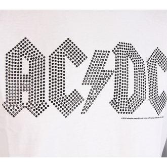 t-shirt metal men's AC-DC - CLASSIC LOGO WHITE BLACK - AMPLIFIED - AV210ALB wht