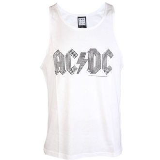top men AC / DC - BLACK LOGO DIAMONTE WHITE - AMPLIFIED - AV319ALB