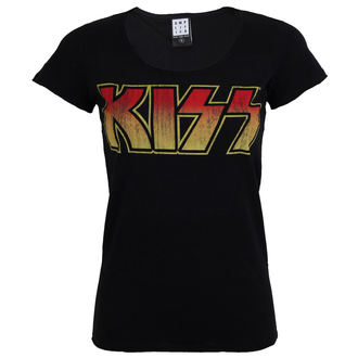 t-shirt metal women's Kiss - CLASSIC LOGO DISTRESSED - AMPLIFIED, AMPLIFIED, Kiss
