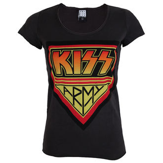 t-shirt metal women's Kiss - DISTRESSED ARMY CHARCOAL - AMPLIFIED, AMPLIFIED, Kiss