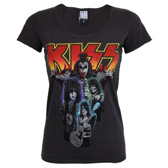 t-shirt metal women's Kiss - BAND SHOT DISTRESSED - AMPLIFIED, AMPLIFIED, Kiss