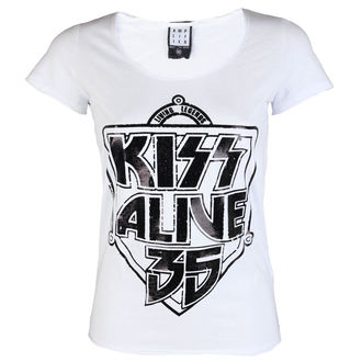 t-shirt metal women's Kiss - K 35 WHITE - AMPLIFIED, AMPLIFIED, Kiss
