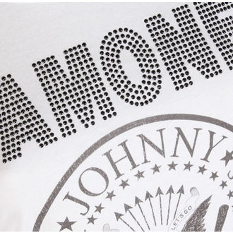 t-shirt metal women's Ramones - LOGO DIAMANTE - AMPLIFIED, AMPLIFIED, Ramones