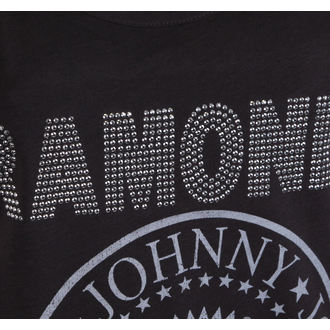 top women RAMONES - LOGO DIAMANTE SILVER - CHARCOAL - AMPLIFIED - AV663RLS