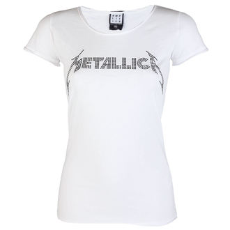 t-shirt metal women's Metallica - CLASSIC LOGO WHITE - AMPLIFIED, AMPLIFIED, Metallica