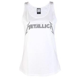 top women METALLICA - CLASSIC LOGO WHITE - AMPLIFIED, AMPLIFIED, Metallica