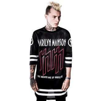 t-shirt women's Marilyn Manson - Use Your Fist Hockey Team - KILLSTAR, KILLSTAR, Marilyn Manson