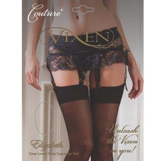 garter belt LEGWEAR - elizabeth 6 strap - black, LEGWEAR