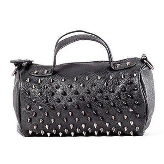 handbag (bag) QUEEN OF DARKNESS - Black and Silver, QUEEN OF DARKNESS