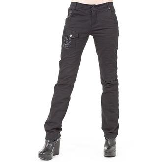 pants women (winter) QUEEN OF DARKNESS - Black, QUEEN OF DARKNESS