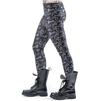 pants women (leggings) QUEEN OF DARKNESS - Skulls and Roses, QUEEN OF DARKNESS