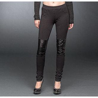 pants women (leggings) QUEEN OF DARKNESS - Black, QUEEN OF DARKNESS