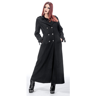 coat women's QUEEN OF DARKNESS - Double-Breasted, QUEEN OF DARKNESS