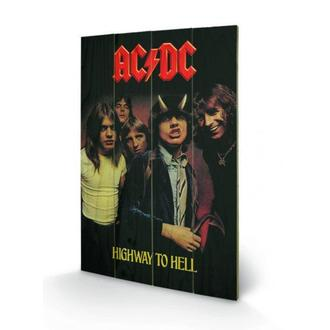 wooden image AC / DC - Highway to Hell, PYRAMID POSTERS, AC-DC