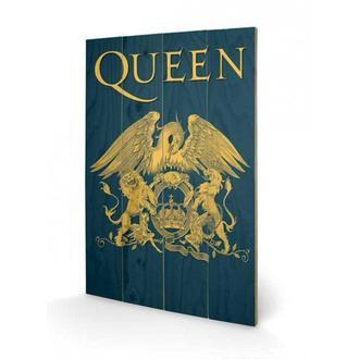 wooden image Queen - Crest, PYRAMID POSTERS, Queen