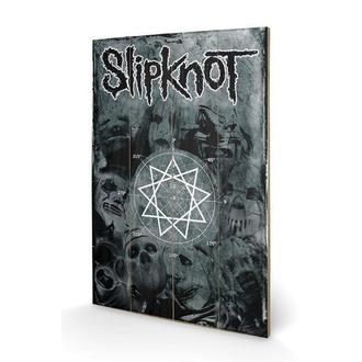 wooden image Slipknot - Pentagram, PYRAMID POSTERS, Slipknot