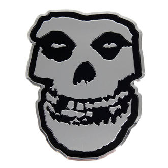 sticker small (metal) Misfits - Skull, C&D VISIONARY, Misfits