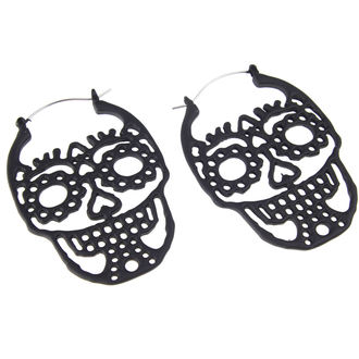 Earrings INOX - 20G SUGAR SKULL, INOX