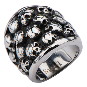 ring INOX - MULTI SKULLS, INOX