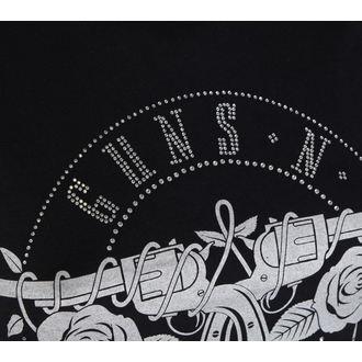 t-shirt metal women's Guns N' Roses - Circle Logo - ROCK OFF, ROCK OFF, Guns N' Roses