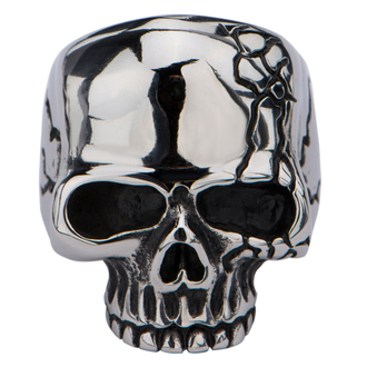 ring INOX - SKULL WITH CRACK, INOX