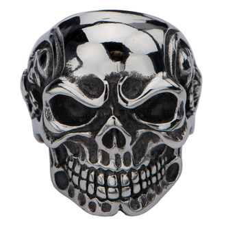 ring INOX - KNIT EYEBROW SKULL, INOX