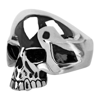 ring INOX - skull w/teethout, INOX