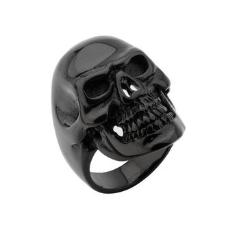 ring INOX - BLK IP SKULL ALL TEETH, INOX