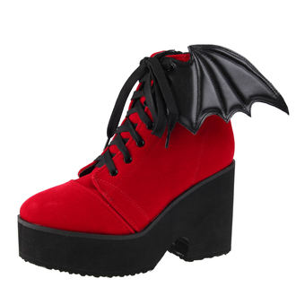 wedge boots women's - Bat Wing Boot Red Velvet - IRON FIST, IRON FIST