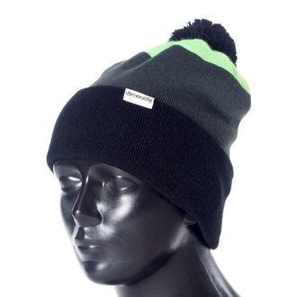 Beanie MEATFLY - Gronk A - Black / Green / Gray, MEATFLY