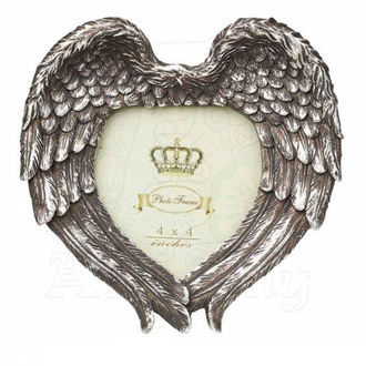 Decoration (photo frame) ALCHEMY GOTHIC - Winged Heart (Wings Closed) - SA7