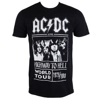t-shirt men AC / DC - Highway To Hell - World Tour 1979/80 - Black - ROCK OFF - ACDCTTRTW01MB