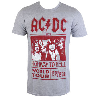 Metal T-Shirt men's AC-DC - Highway To Hell World Tour 1979/80 - ROCK OFF - ACDCTTRTW01MG