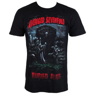 t-shirt metal men's Avenged Sevenfold - Buried Alive Tour 2012 - ROCK OFF, ROCK OFF, Avenged Sevenfold